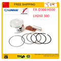 FEISHEN linhai FA-D300 LH300 YP260 LH260 300cc assembly 72.5mm piston ring pin set free shipping
