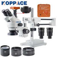 KOPPACE 40 MP, microscopio 2.1X-180X, 60FPS, cámara microscópica de la industria HDMI, microscopio de reparación de teléfonos móviles, anillo de luz LED 144.