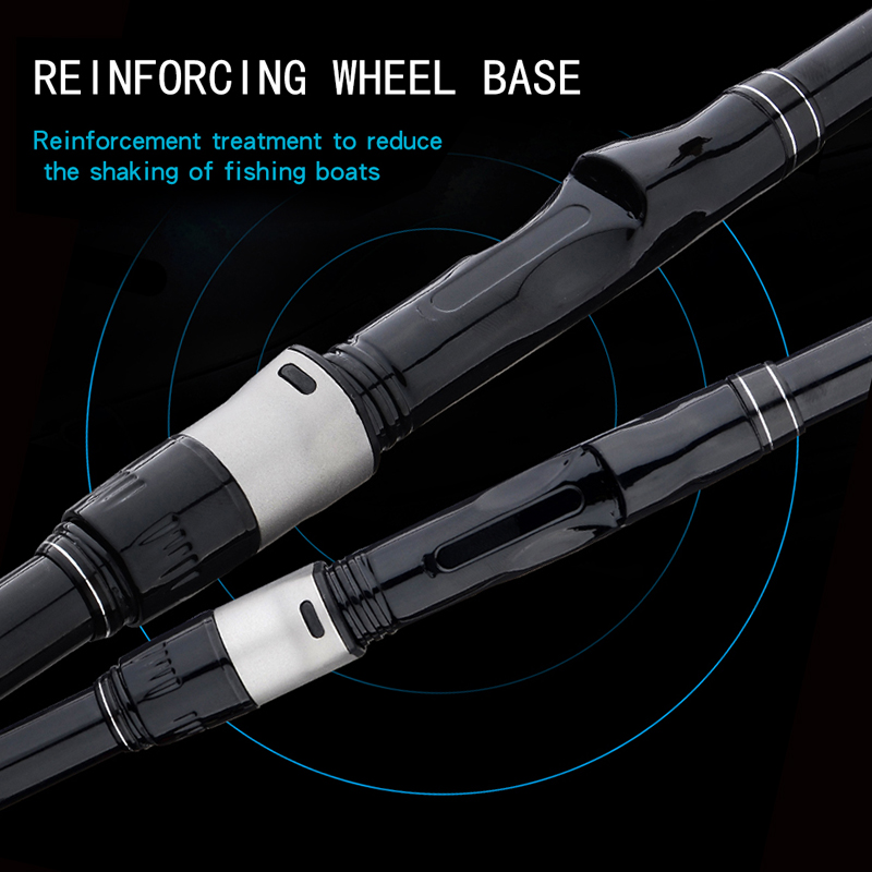 Image 3 - Portable fishing rod 2.7M4.5M5.4M rotating fishing rod strong carbon fiber M power telescopic travel sea boat rock fishing rod-in Fishing Rods from Sports & Entertainment