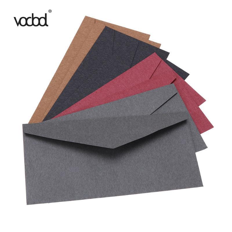Vodool 5pcs Lot 22x11cm Vintage Colored Envelopes Wedding