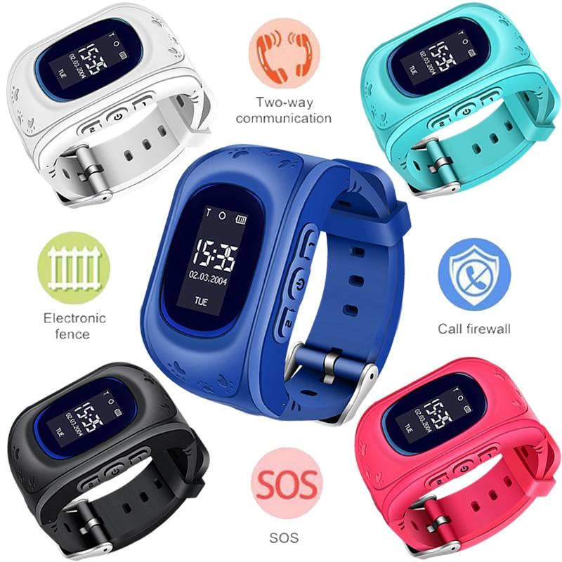 WISHDOIT Chaude GPS Enfants Montre Bébé Montre Smart Watch pour les Enfants SOS Call Lieu Finder Locator Tracker Anti Perdu Moniteur Smartwatch