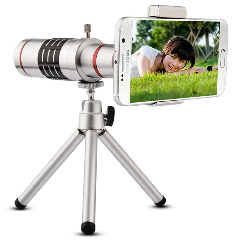 18X Optical Zoom Telescope Lens for iPhone 7 6 6s 8 Plus Lens for Xiaomi Mi8 Redmi 6 Pro Tripod Camera Lens for Huawei P20 Pro