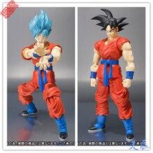 Новый аниме Fukkatsu нет F супер саян бог сс Gokou Goku фигурку s.H Figuarts ( свч ) дракон г игрушки 16 см коробка