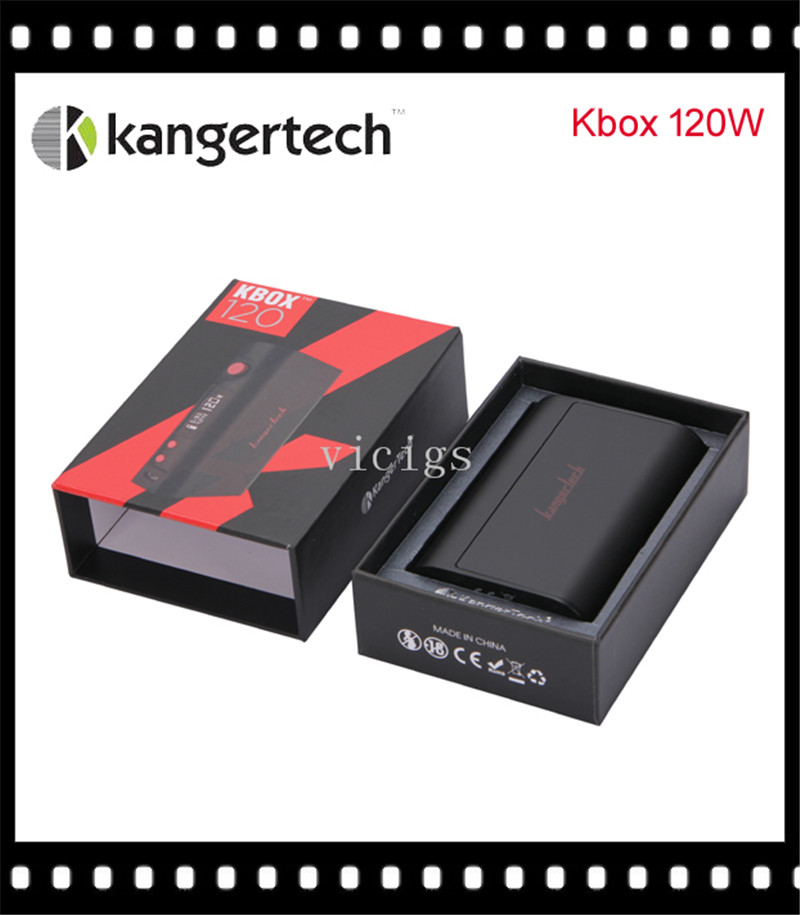 100% Original Kanger KBOX 120W Temperature Control Variable Wattage Box Mod Powered by 18650 Battery