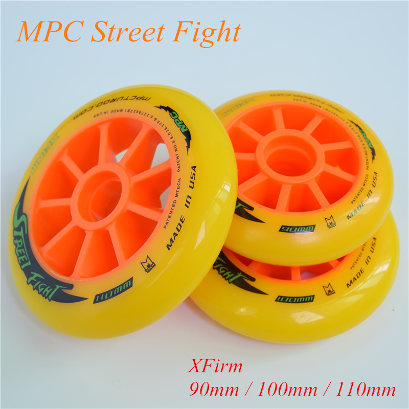 Advanced Street Speed Racing 110mm 100mm 90mm Skating Wheel for MPC Street Fight XFirm Orange Inline