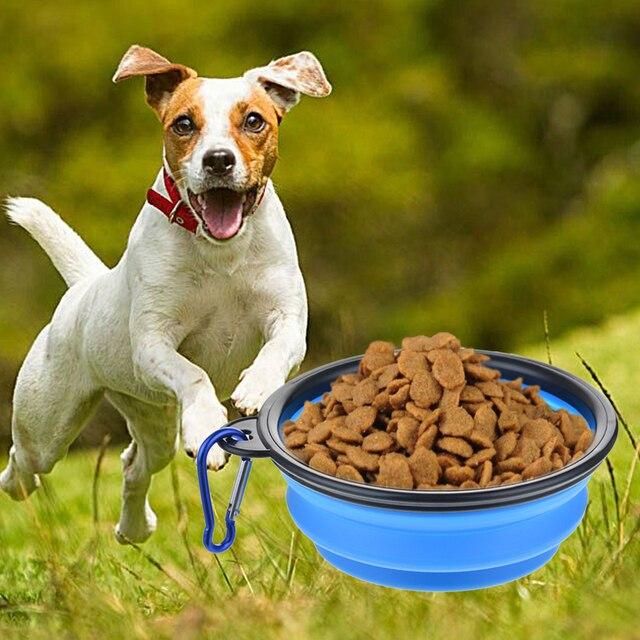 Folding Silicone Dog Food Bowl 1