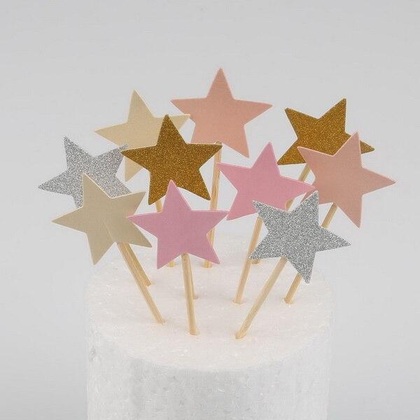 10 teile//los Herz//Nette Stern Kuchen Topper Geburtstag Baby-dusche Dekorationen jungen mädchen kinder Hochzeit Event Party favors Supplies