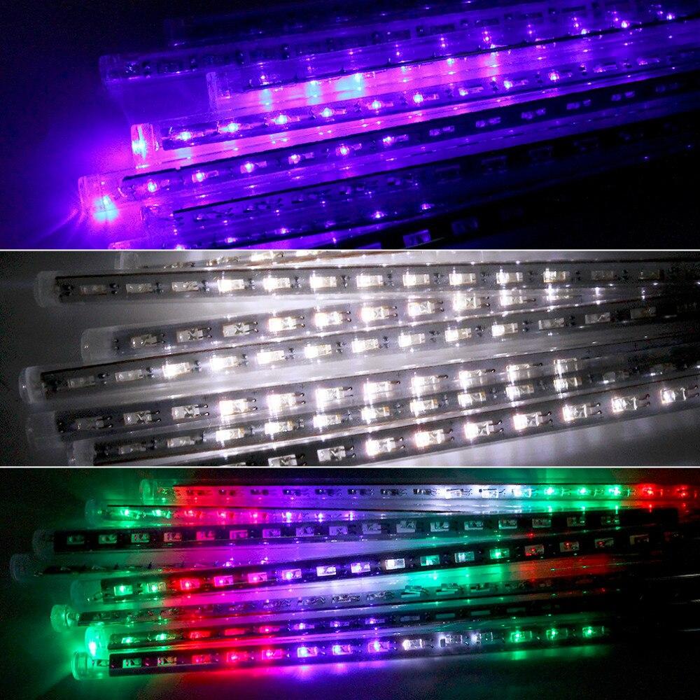 30cm 96 LED Landschaft Licht Zeichenfolge Meteorschauer Regen 8 Rohr im freien