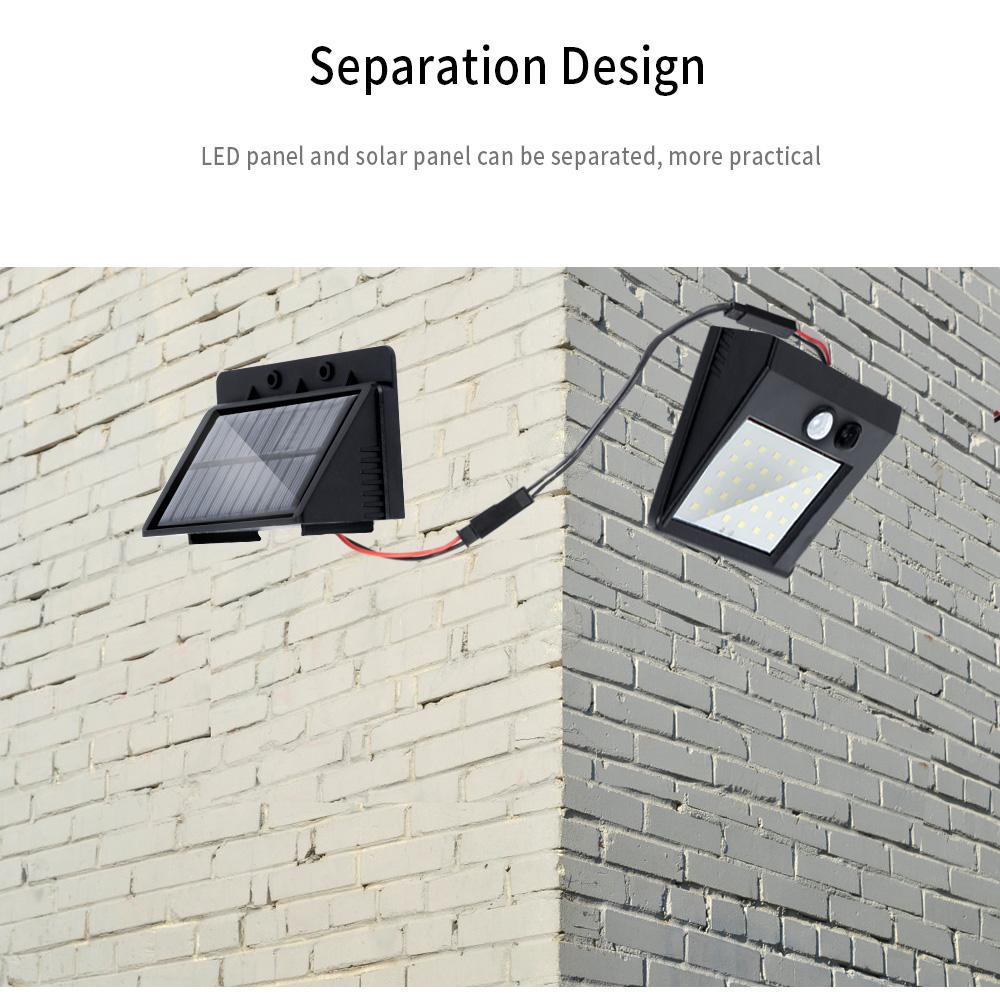 30 LEDs IP64 Separable Solar Motion Sensor Wall Light for Garden Doorplate