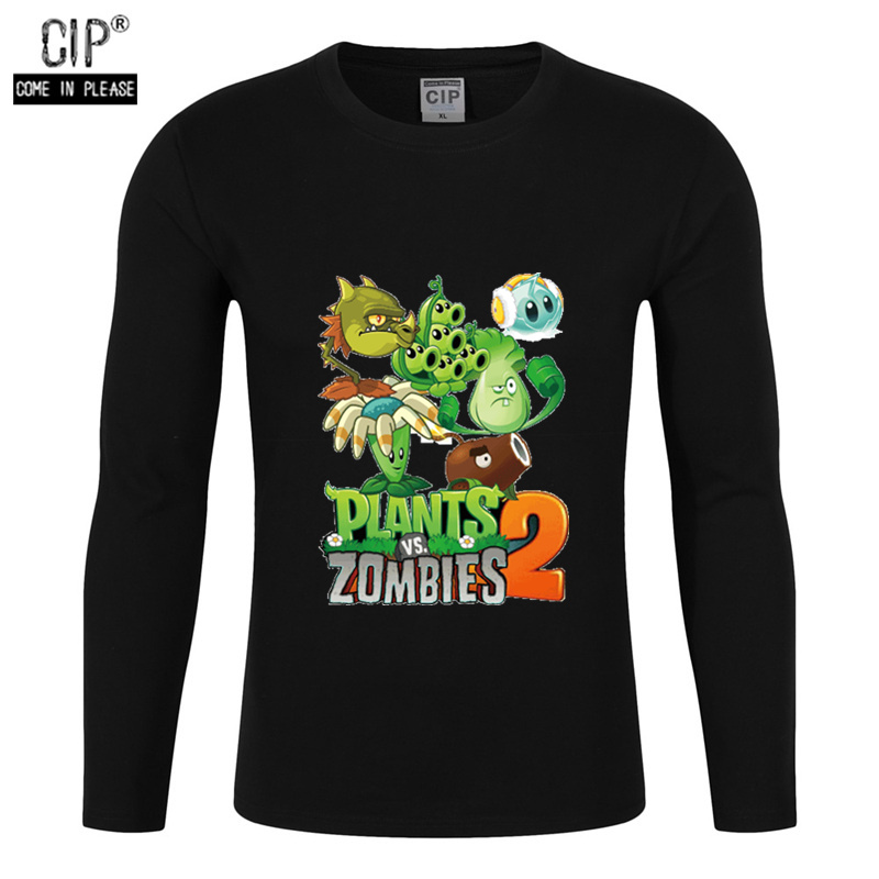 T-Shirts Sweater Clothing Zombies Spring Plants Long-Sleeve Boys Kids Baby Cartoon Child
