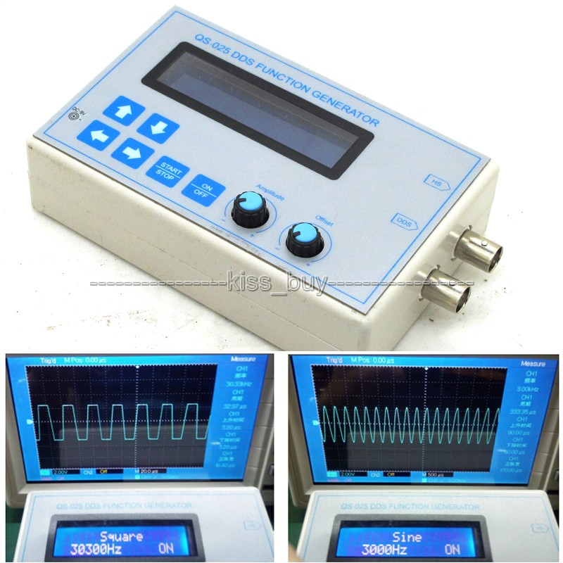 DDS Function Signal Generator Square Sawtooth Triangle Wave 1HZ-65534Hz.frequency   + Case Touch Button