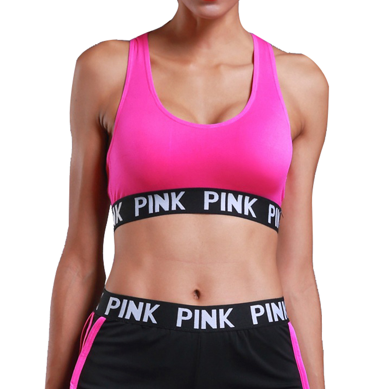 PINK Energy Seamless Bra Padded Push Up Sports Bra High Impact Brassiere Sport Woman Fitness Gym Yoga Sport Bra Top Esportivo Bh цена