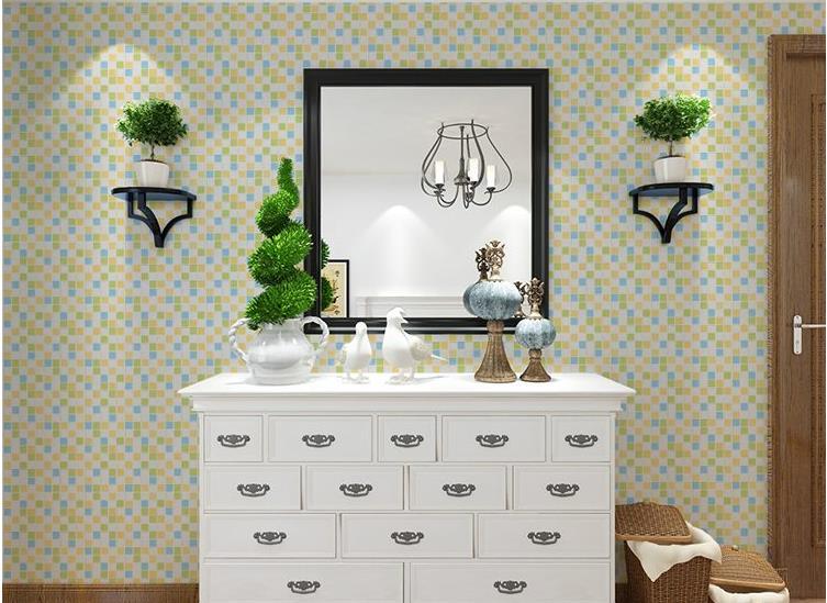 Bathroom Mosaic Wallpaper Self Adhesive Wallpaper Toilet