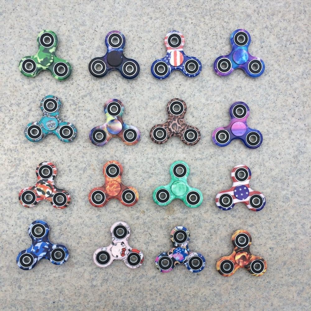 Višebojni trokut Gyro Finger Spinner Plastika EDC ruka za autizam / - Igre i zagonetke - Foto 2