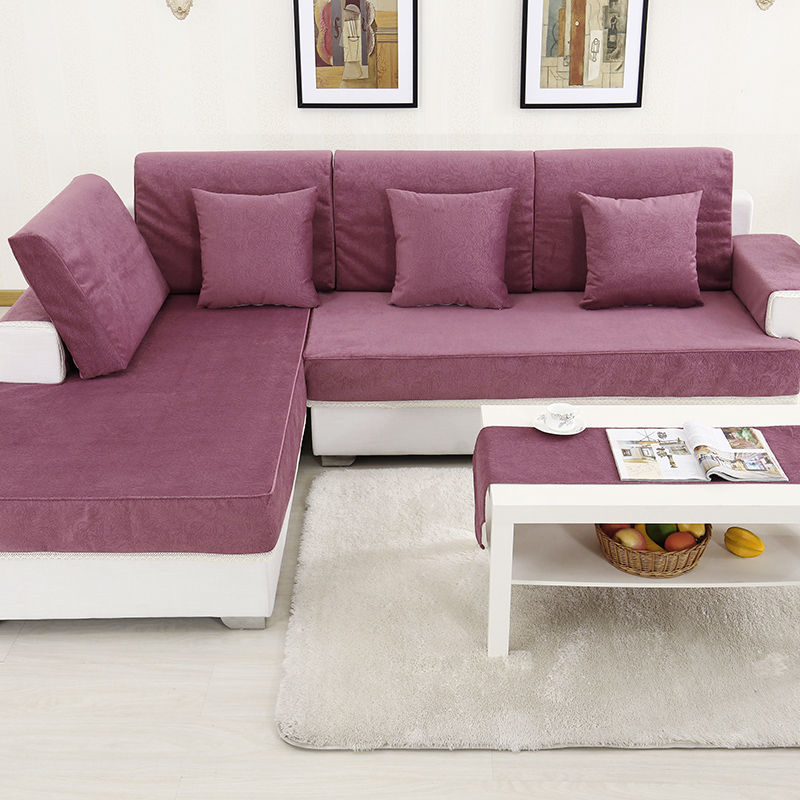 Anti Skid European Plush Sofa Cover All Fabric Simple