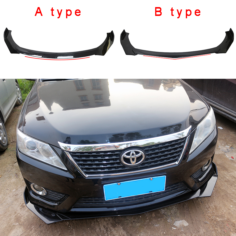 ABS material Universal Car Front Bumper Lip Splitter Fins Body Spoiler Chin for BMW Skoda Volkswagen Audi Benz Ford Kia ToyotaABS material Universal Car Front Bumper Lip Splitter Fins Body Spoiler Chin for BMW Skoda Volkswagen Audi Benz Ford Kia Toyota