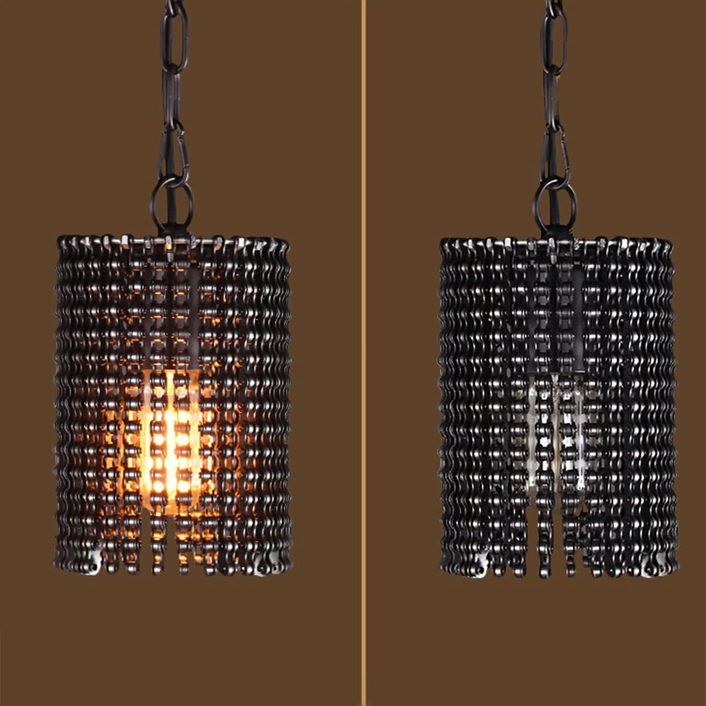 Bicycle chain pendant light wall control small chain ceiling lamp bicycle chain pendant light wall control small chain ceiling lamp style chain lamp restaurant pendant light in pendant lights from lights lighting on arubaitofo Gallery
