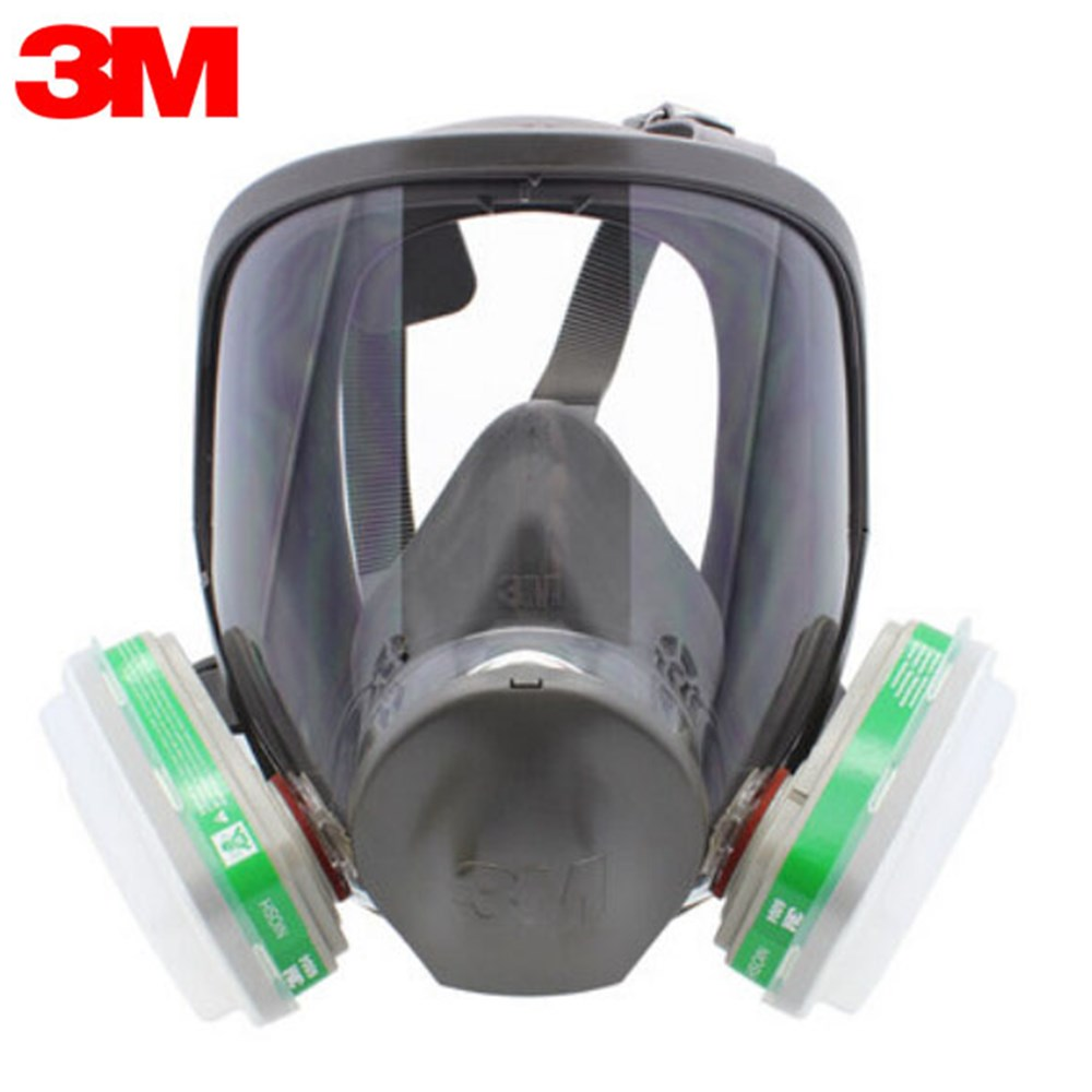 Authentic 3M 6800+6004with Respirator Full Face Reusable Protective Mask Anti-Gas,Ammonia NH3/ Methylamine/ CH3NH2 LT006