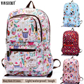 "Women Waterproof Nyon 15"" Laptop Computer Backpack School Travel Satchel Bag Cute Cartoon Harajuku Mochila Escolar Girls Boys"