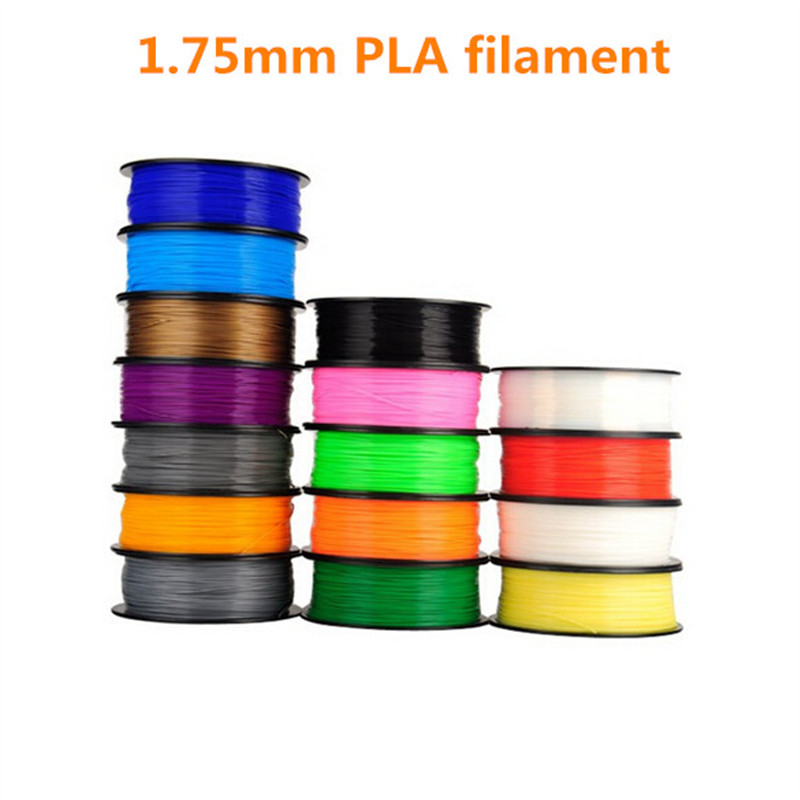 HE3D divers types de Filament d'impression 3D couleur 1.75mm 1Kg PLA Makerbot/reprap/mendel/UP 1 kg (2.2lb) pour imprimante 3D