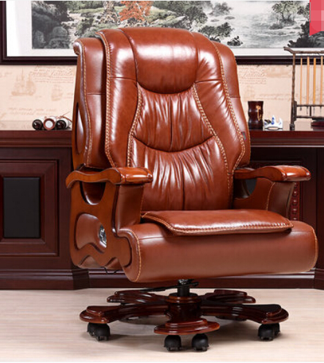 Luxury wood chair swivel chair boss leather chair lift