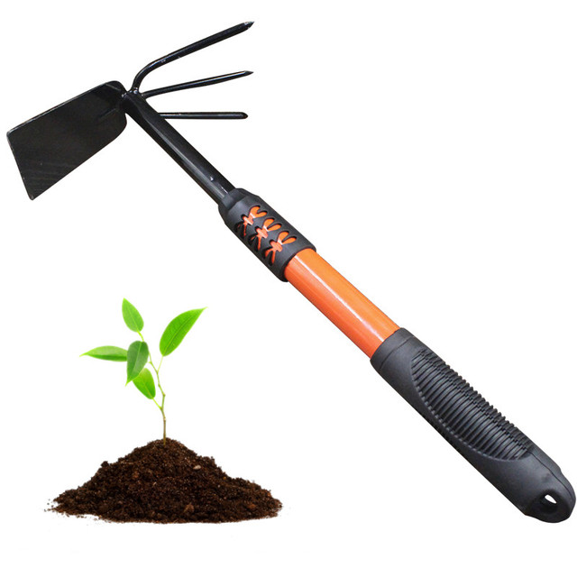 Free shipping hot sale dual head hoe cultivator combo for Gardening tools on sale