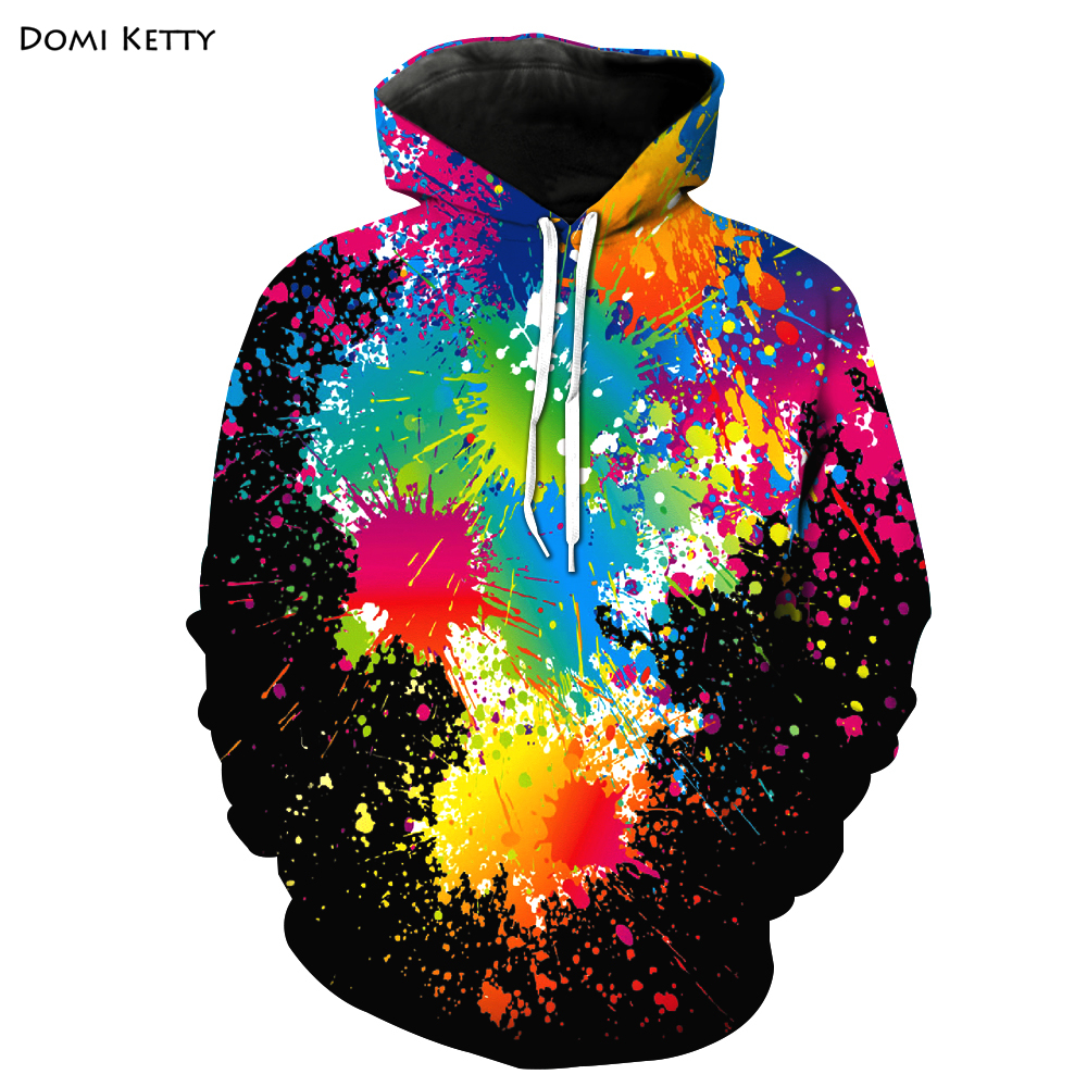 Domi ketty boys girls hoodies print colored paint dot kids baby casual sweatshirts clothes children long sleeve tops outerwear
