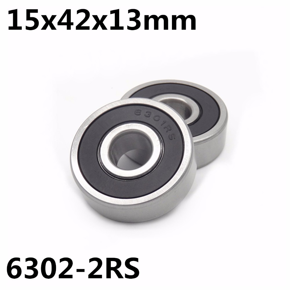 10Pcs 6302-2RS Ball Bearing 15x42x13 Mm Deep Groove Ball Bearing High Quality 6302RS 6302