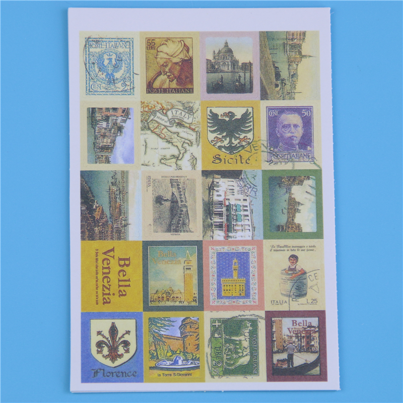Diy Vintage Retro Paper Sticker London Italy Doris Alice Prince Stamp Sticker For Diary Memo Pad # (7321)