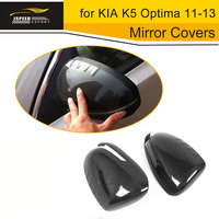 Car Review Mirror Covers Carbon Fiber Car Rear Mirror Caps for KIA K5 Optima 11 13