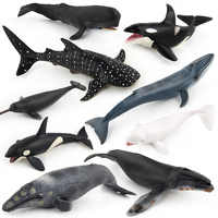 Simulation Whale Animal Figure Collectible Toys Ocean Animal Cognition Action Figures Kids Solid Plastic Cement Toys