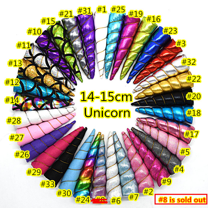 50pcs lot Unicorn horns DIY hair accessories fabric in