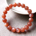 High Grade Natural Stone AAA Grade Orange Moonstone Bracelets For Women 5-12mm Beads DIY Jewelry Pulseras Mujer LB050830