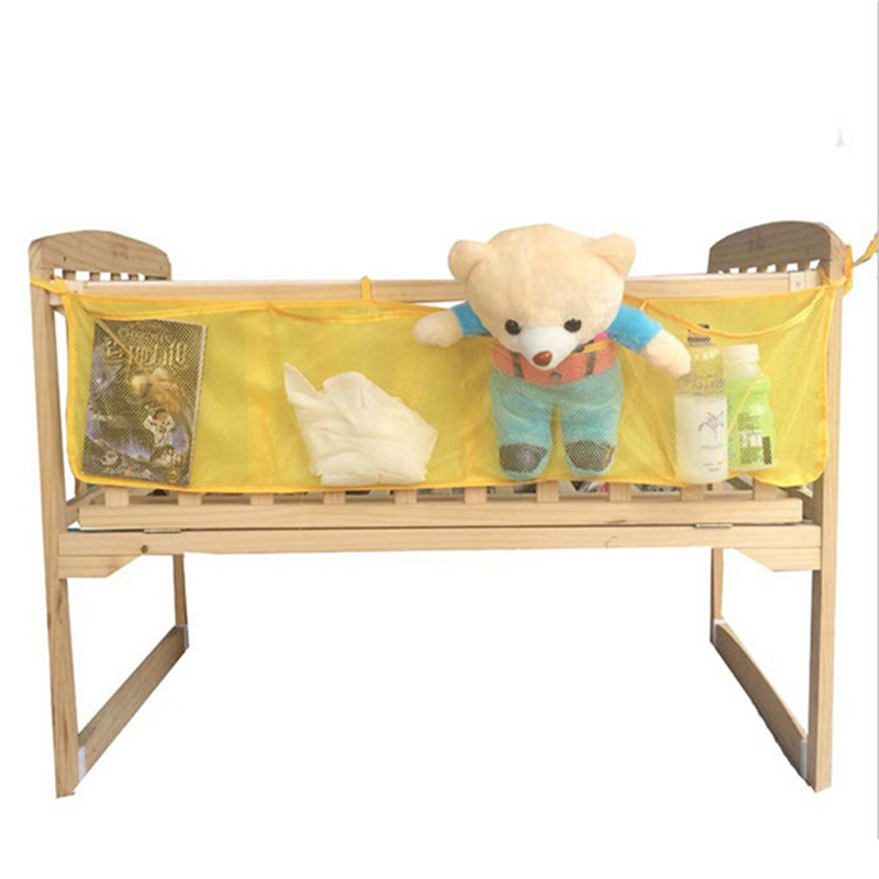 Crib Toy Holder : Baby cot bed hanging storage bag net crib organizer toy