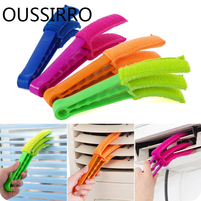 Home Office Microfiber Multifunctional Cleaning Brushs For Blinds Air Conditioning Shutter Brush Washable Cleaning Brush Clip