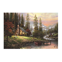 Inkjet Painting Landscape Painting High Definition Small Village Canvas Painting Frameless Oil Painting Wall Home Decoration(China)