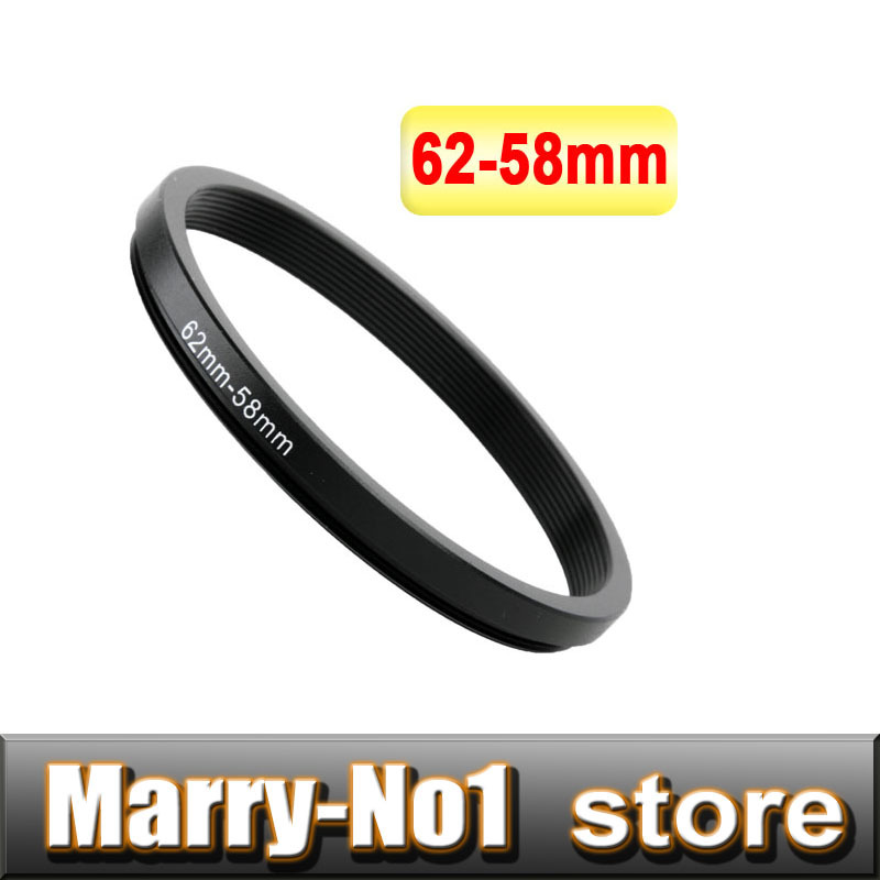 Free shipping + Trcking Number Black Step Up Filter Ring Lens Ring 62mm to 58mm 62mm -58mm 62-58mm
