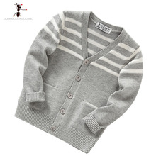 2016 Hot Sale Kids Cardigan V-neck Pull Enfant Garcon Knitted Clothes Warm Autumn Winter Knitwear Roupas Children 2411