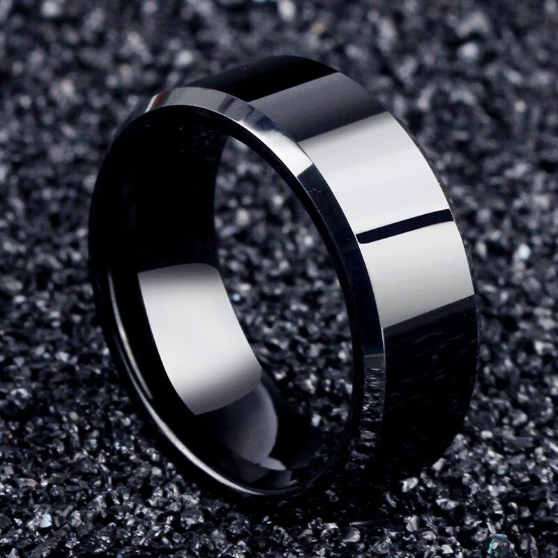 Мода 2017 г. очарование украшения мужчины кольцо Титан черный Кольца для Для женщин