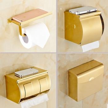 Porte Papier Toilette Doré