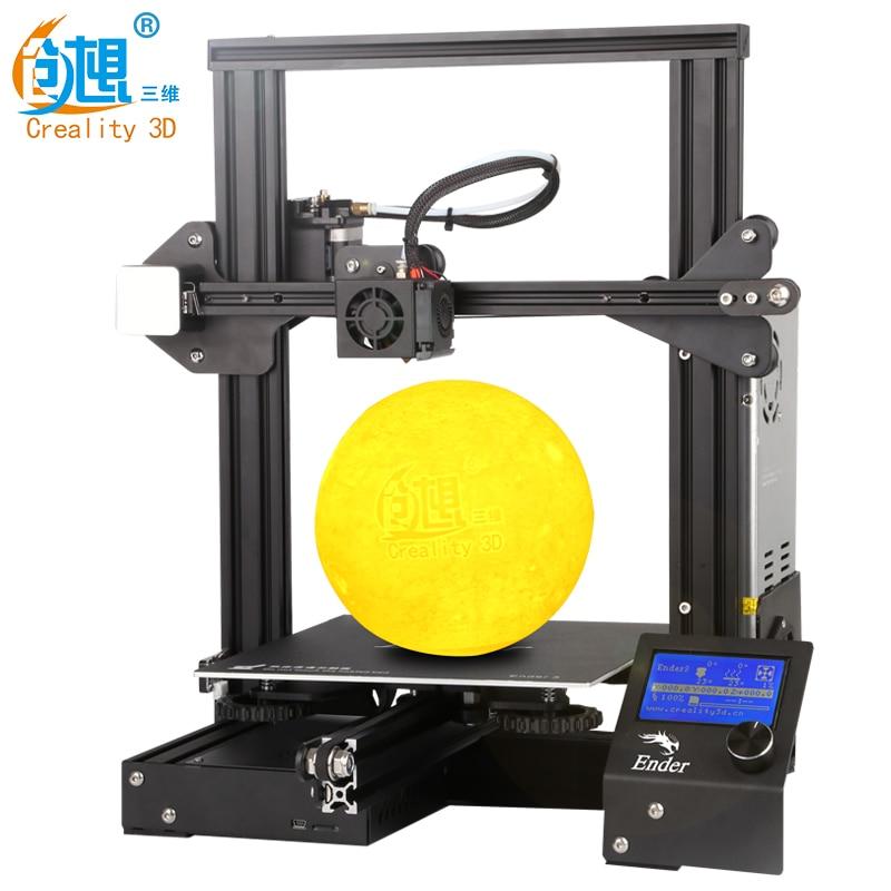 CREALITY 3D impresora Ender 3Pro DIY Kit v slot gran tamaño regalo boquillas y bloque calefactor funda de silicona + PLA - 3