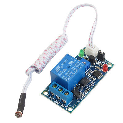 DC 12V Photoelectric Switch Sensor Relay Module 50mmx25mm w 2 Cable leveling sensor tng 065b 02 photoelectric switch parts