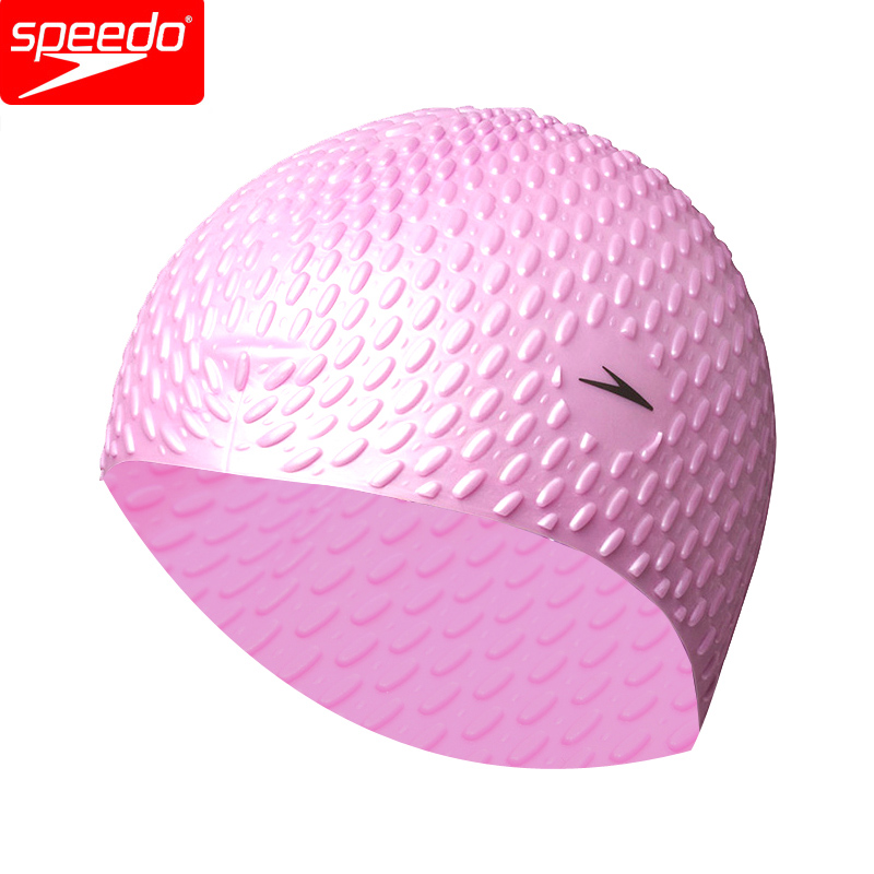 Speedo Fitness Training 100% Silicone Bubble Cap Particle Swimming Caps For Women Or Men Long Hair Keep Warm Ear Protection Бюстгальтер
