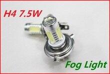 Carcardo 1 pair 7.5W H4 Car LED Fog Lamp H4 foglight Automobile Light Bulbs Wedge High Power