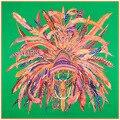 2016 el nuevo 130 cm * 130 cm de gran tamaño del viento de plumas indio corona sarga de seda del mantón de la bufanda de lujo de seda de la marca mujeres Cape