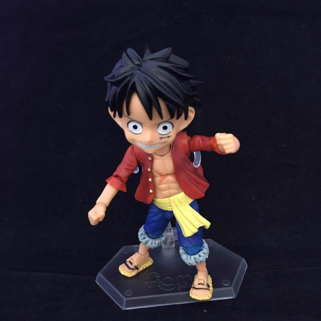 One Piece Monkey D Luffy Nendoroid PVC Action Figures 100mm Anime One Piece Luffy Zoro Sanji Nendoroid Model Toy Doll