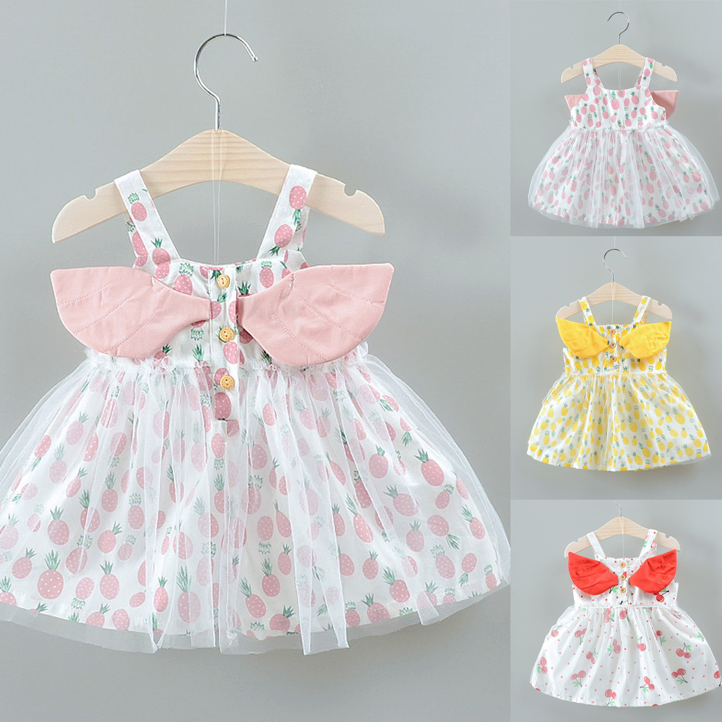 Kid Baby Girl Sleeveless Sling Princess Dress Cute Print Summer Sundress Dresses