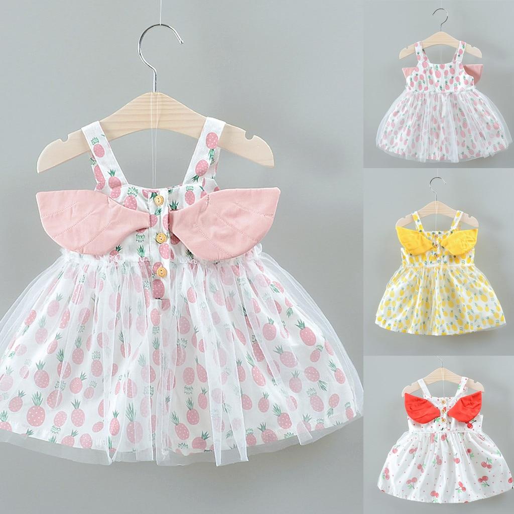 Toddler Kids Children Baby Summer Girls Sleeveless Dress Sling Princess