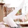 2016 Nova Primavera Outono Cor Sólida Veludo Branco Ballet Calças Justas Mulheres Sexy meias Coloridas de Alta Stocking Meias Calças Justas