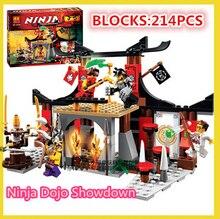 Bela 10319 214pcs Dojo Ninja Jouet de construction Action MinifiguresEducational Building Blocks Toys compatible with leoge